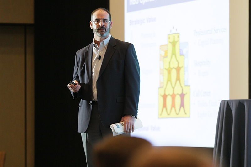 Andy O'Brien of Harvard Business School speaking at Higher Ed Facilities Forum