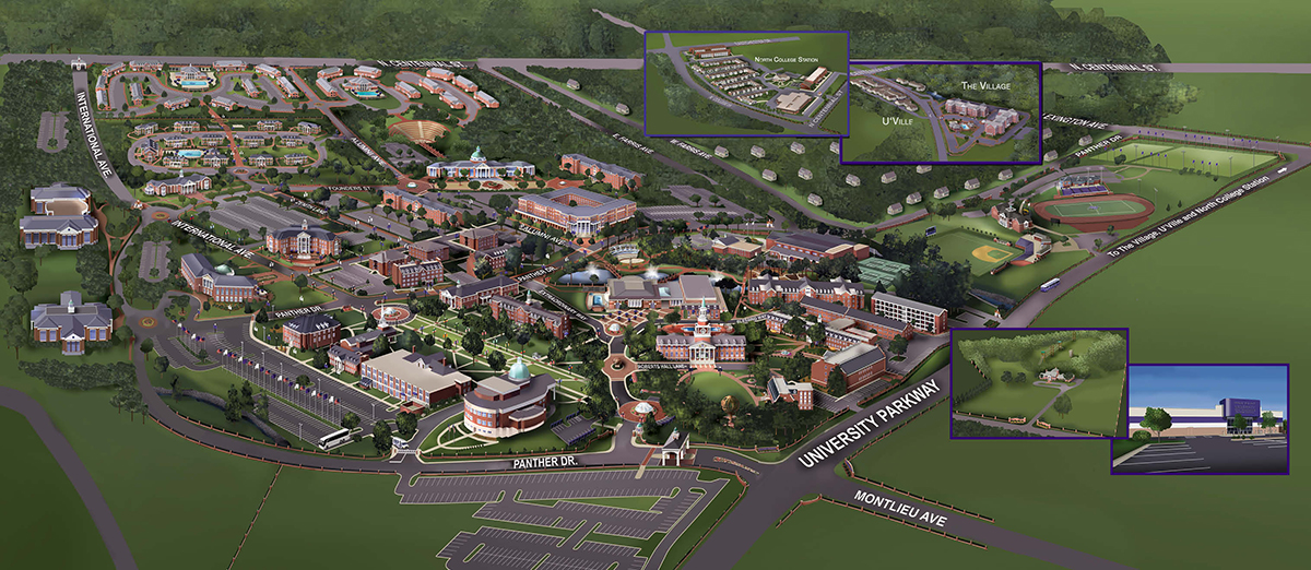 High Point University Campus Map
