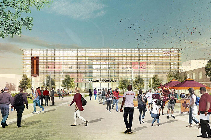 Virginia Tech Cowgill Hall Rendering